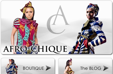 Afro-Chique Old Site Design By Our Developers