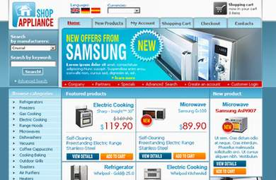 Appliances E-Commerce Store