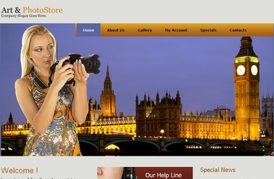 Art And Photography Web Site Template By Our Designers