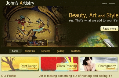 Art & Photography Web Site Template By Our Designers