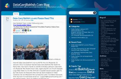 Hazrat Data Ganj Bakhsh Site Blog