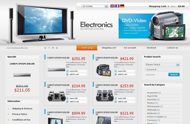Electronics E Commerce Sample Web Site