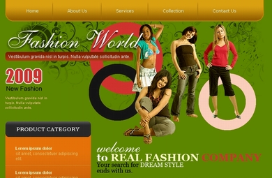 A Fashion Web Site Template Designed By PakEagle.Com