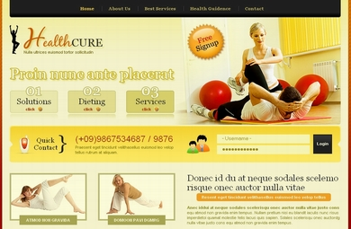 Health And Fitness Web Site Design By Our Designers