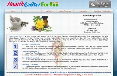 A Online Health Solution Web Site From Pakistan