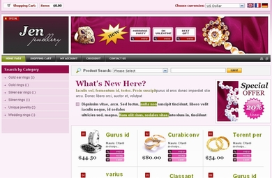 Jewelry E-Commerce Web Site
