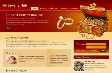 A Jewelry Web Site Designed By Our Designers