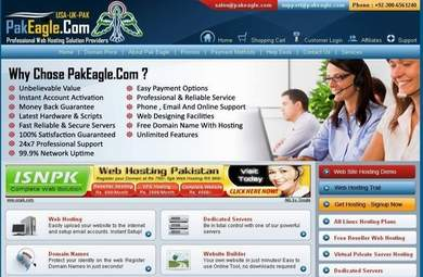 Pak Eagle Web Hosting Services