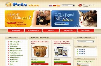 Online Pets Store