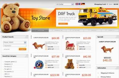 ToyStore E-Commerce Web Site