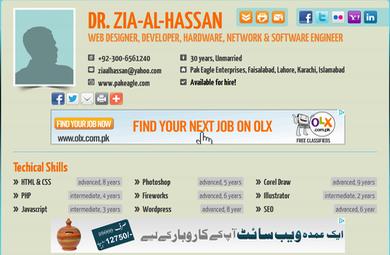Dr. Zia-al-Hassan's Personal Profile Web Site